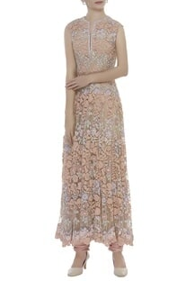 Floral Sequin Embroidered Anarkali Set