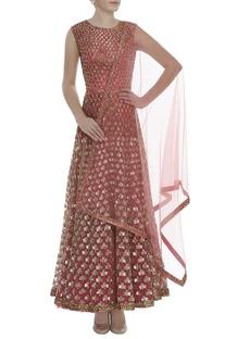Sequin Embroidered Anarkali Set