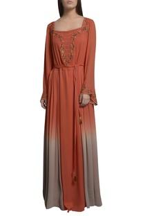 Sequin embroidered kaftan dress