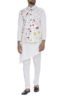 Geometric Dome Digital Printed Nehru Jacket