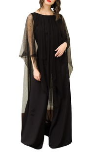 Low Back Jumpsuit With Cape