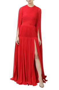 Flared Sleeves Gown