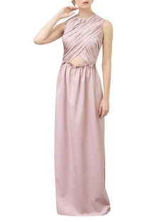 Cutout Gown With Frill Detail
