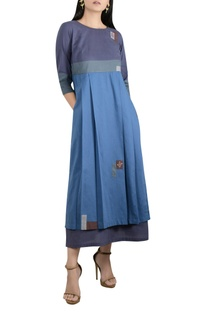 Front Pleated Embroidered Tunic