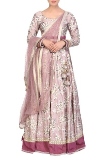 Embroidered lehenga with full sleeves blouse & dupatta