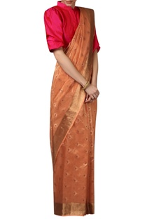 Floral Bootis Embroidered Handwoven Saree