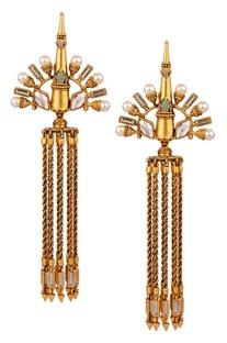Tasseled Baroque earrings
