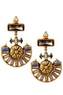 Amrapali Floral Dangler Earrings