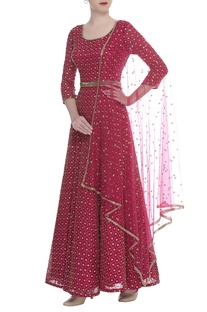 Cutdana Embroidered Anarkali Set