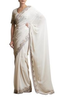 Sari with Embellished Border & blouse