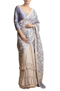 Sari with Frilled Hem & bouse
