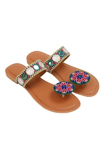 Paduka Embroidered Flats