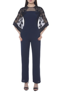 Embroidered flared sleeves jumpsuit