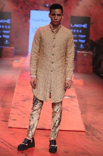 Salli Glass Embroidered Sherwani Set