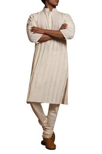 Textured kurta churidar set