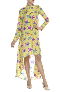 Printed asymmetric Dress