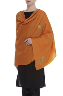 Gota embroidered shawl