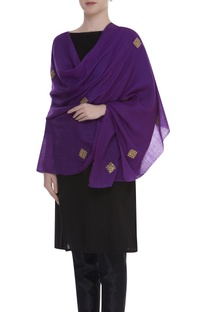 Gota patti embroidered shawl