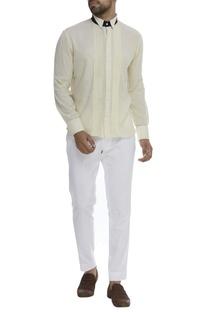 Pintuck Shirt With Cutaway Collar