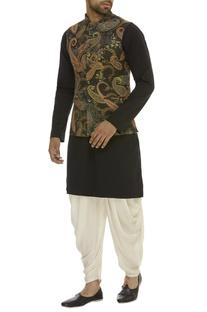 Paisley Print Nehru Jacket set