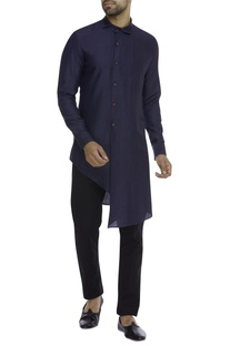 Silk Asymmetric shirt kurta
