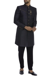 Matka Silk Sherwani With Trouser