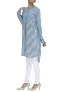 Striped Asymmetric Tunic