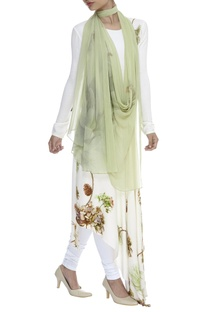 Hand Cutdana Embroidered Stole