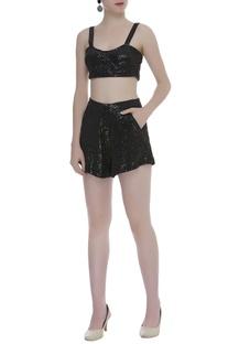 Woven Sequin Shorts