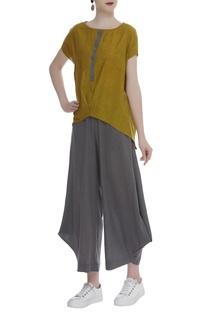 Handloom cotton Asymmetric Top