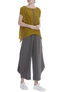 Asymmetric Flared Pants