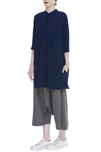 Handloom cotton Shirt with front pockets