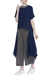 Asymmetric Handloom cotton top