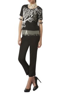 Embroidered top with pants