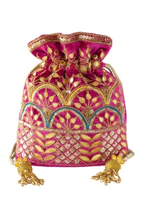 Gota Patti Embellished Potli bag