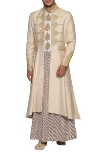 Embroidered Sherwani With Anarakali Kurta