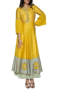 Embroidered layered anarkali kurta