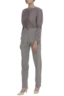 Handwoven Cotton Textured straight pant