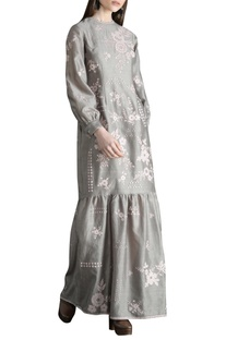 Applique Embellished Tiered Maxi dress