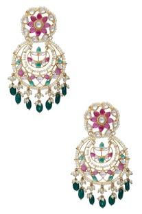 Floral Jaal Chandbali Earrings
