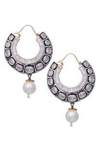 Victorian Pearl Drop Bali Earrings