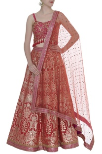 Zari & sequin embroidered lehenga set