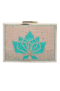 Pitta Hand Embroidered Clutch Cum Sling bag