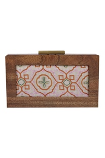 Moroccan Printed Box Clutch Cum Sling bag