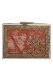 Zardozi Embroidered Box Clutch Cum Sling bag