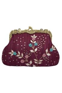Gota Patti Embellished Clutch Cum Sling bag