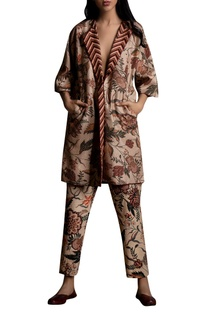Floral print Quilted Choga Jacket