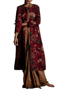 Digital printed long jacket