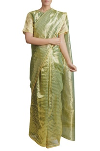 Handwoven chanderi tissue Saree