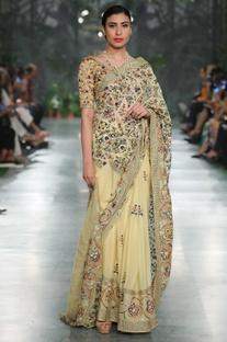 Resham Hand Embroidered Sari